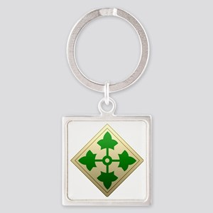 4th infantry div Square Keychain