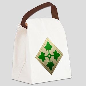 4th infantry div - Vintage Canvas Lunch Bag