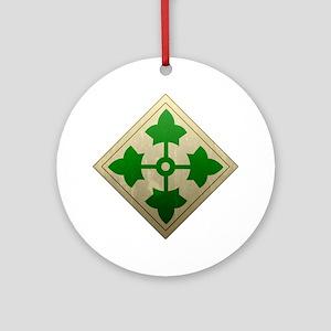 4th infantry div - Vintage Round Ornament