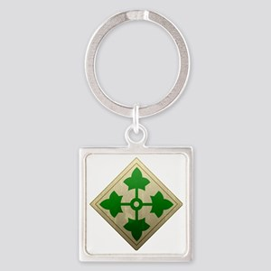 4th infantry div - Vintage Square Keychain