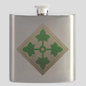 4th infantry div - Vintage Flask