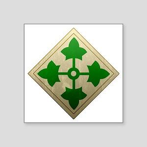 "4th infantry div - Vintage Square Sticker 3"" x 3"""