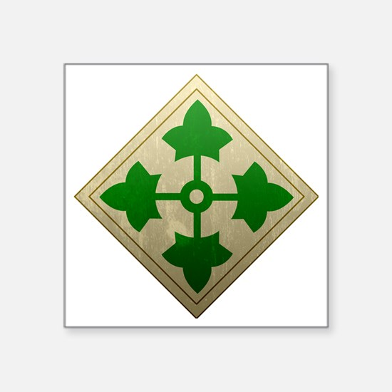 "4th infantry div - Vintage Square Sticker 3"" x 3"""