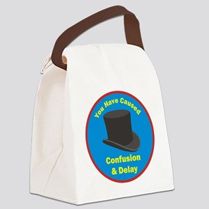 topham hat. Canvas Lunch Bag