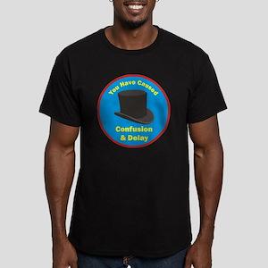 topham hat. Men's Fitted T-Shirt (dark)