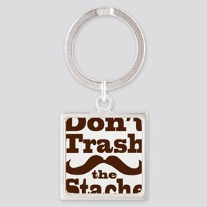 cpstache Square Keychain