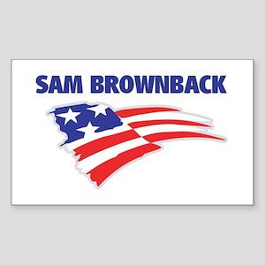 Fun Flag: SAM BROWNBACK Rectangle Sticker
