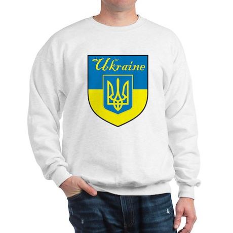 Ukraine Flag Crest Shield Sweatshirt