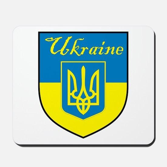 Ukraine Flag Crest Shield Mousepad