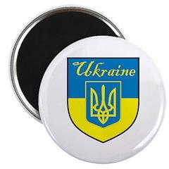 Ukraine Flag Crest Shield 2.25