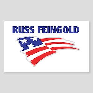 Fun Flag: RUSS FEINGOLD Rectangle Sticker