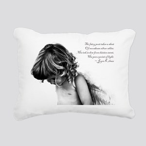 The Fairy Poet Rectangular Canvas Pillow