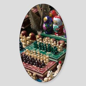 Szentendre: Hungarian Handicrafts D Sticker (Oval)
