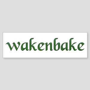 wakenbake Bumper Sticker