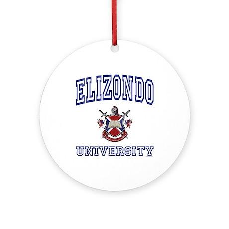 ELIZONDO University Ornament (Round)