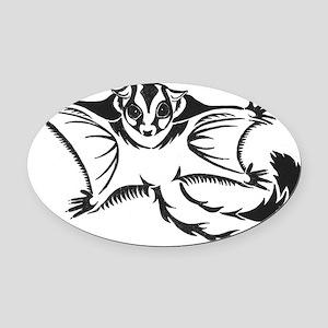flying tribal Oval Car Magnet