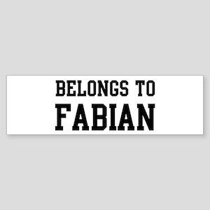 Belongs to Fabian Bumper Sticker