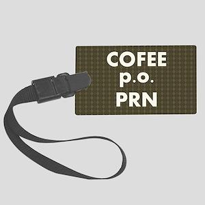 FIN-coffee-po-prn-SHLDRBAG Large Luggage Tag