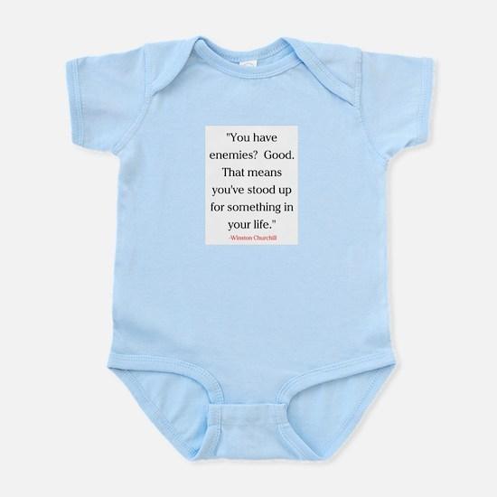 CHURCHILL QUOTE - ENEMIES Infant Bodysuit