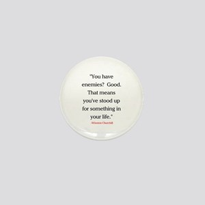 CHURCHILL QUOTE - ENEMIES Mini Button