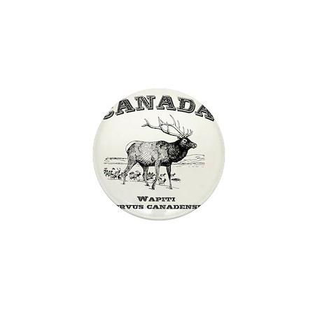 Canadian Wapiti Mini Button