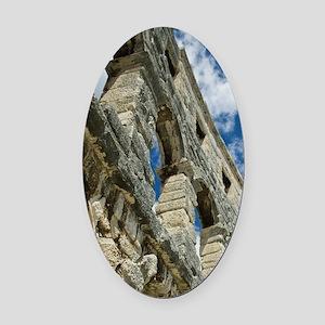 Croatia, Istria, PULA. Roman Amphi Oval Car Magnet