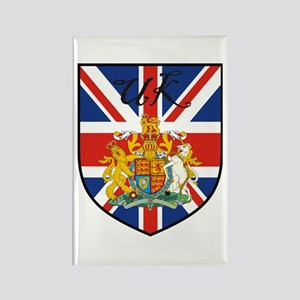 UK Flag Crest Shield Rectangle Magnet