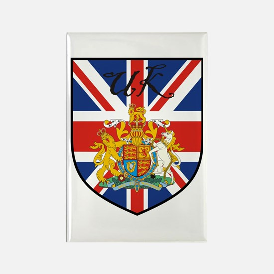 UK Flag Crest Shield Rectangle Magnet