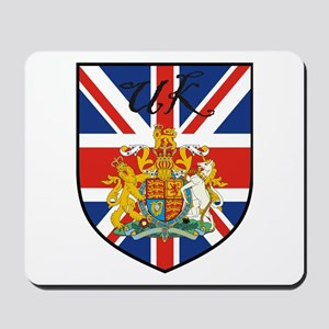 UK Flag Crest Shield Mousepad