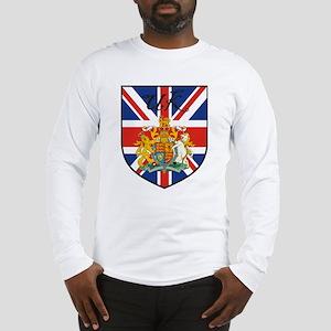 UK Flag Crest Shield Long Sleeve T-Shirt