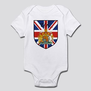 UK Flag Crest Shield Infant Bodysuit