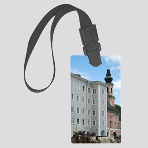 Horse and carriagealzburg Stadt, Large Luggage Tag