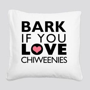 BARK3 Square Canvas Pillow