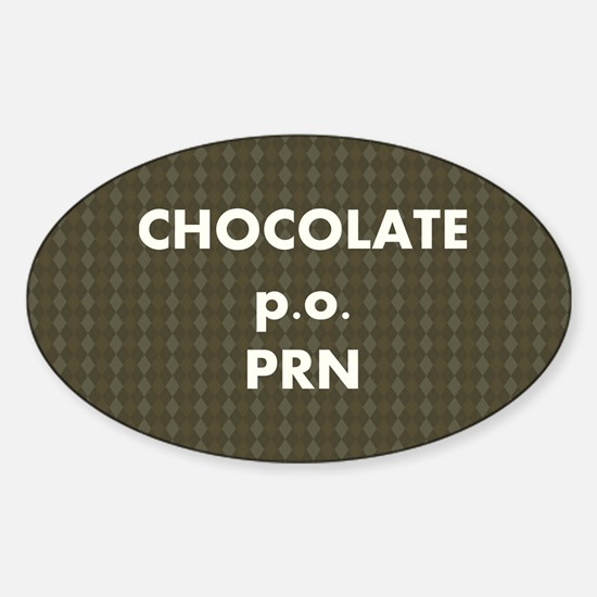 FIN-chocolate-po-prn-SHLDRBAG2 Sticker (Oval)