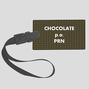 FIN-chocolate-po-prn-SHLDRBAG2 Large Luggage Tag