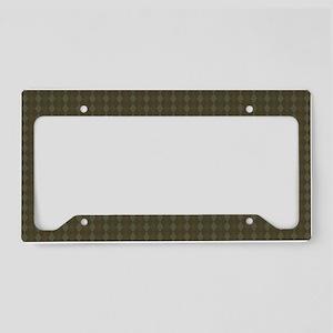 FIN-chocolate-po-prn-SHLDRBAG License Plate Holder