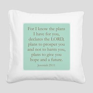 verse Square Canvas Pillow