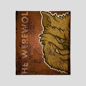 11x17_print_werewolfbrown_txt Throw Blanket