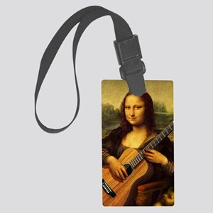 mona-guitar-LG Large Luggage Tag