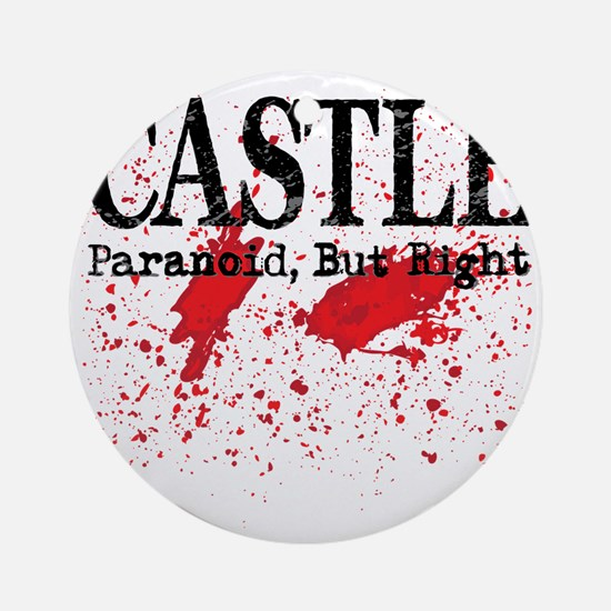 Castle_Bloody-ParanoidRight_lite Round Ornament