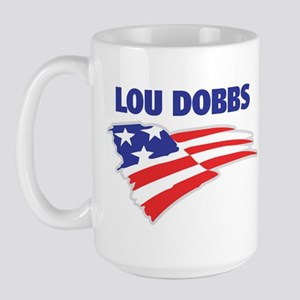 Fun Flag: LOU DOBBS Large Mug