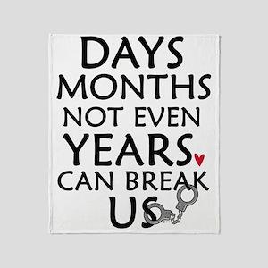Days, Months - 10 inches Throw Blanket