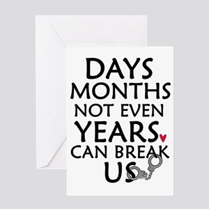 Days, Months - 10 inches Greeting Card