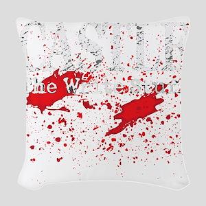 Castle_Bloody-Write_dark Woven Throw Pillow