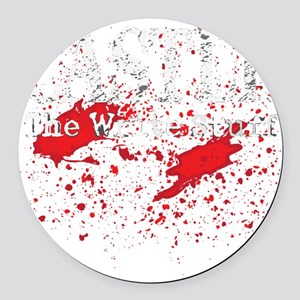 Castle_Bloody-Write_dark Round Car Magnet