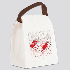 Castle_Bloody-Write_dark Canvas Lunch Bag