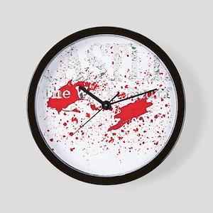Castle_Bloody-Write_dark Wall Clock