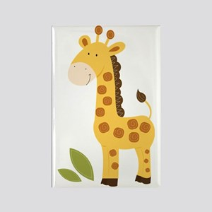 Yellow / Orange Cute Giraffe Rectangle Magnet