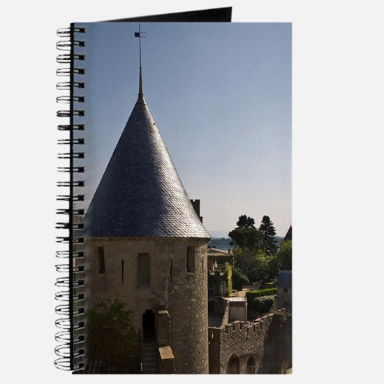 Castle and outer wall, Carcassonne, Aude,  Journal