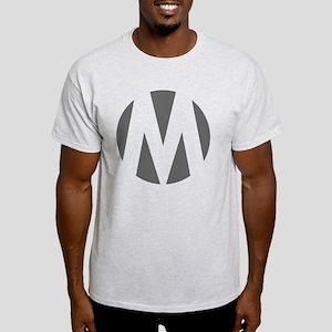 circle-m darkgray1 front Light T-Shirt